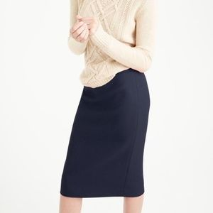 NWT J.Crew Tall No. 2 Pencil Skirt, Sz 6 TALL Navy
